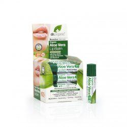 Dr. Organic Ajakbalzsam bioaktív Aloe verával 5,7 ml