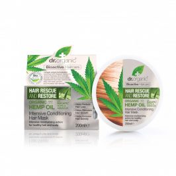Dr. Organic Hajserkentő Intenzív hajpakolás hajnövekedést támogató Baicapil TM formulával és bioaktív kendermagolajjal 200 ml