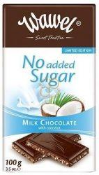 No added Sugar tejcsokoládé Kókusszal hozzáadott cukor nélkül 100 g