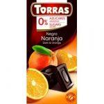Torras Narancsos étcsokoládé hozzáadott cukor nélkül 75 g