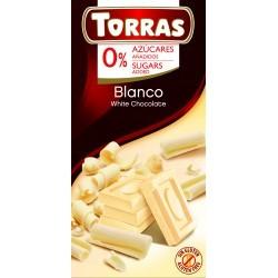 Fehércsokoládé hozzáadott cukor nélkül 75 g Torras