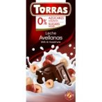 Torras Mogyorós tejcsokoládé hozzáadott cukor nélkül 75 g
