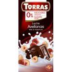 Mogyorós tejcsokoládé hozzáadott cukor nélkül 75 g Torras