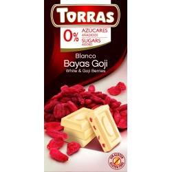 Torras Goji bogyós fehércsokoládé hozzáadott cukor nélkül 75 g
