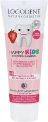 Happy Kids Fluoridmentes gyermek foggél bio eperkivonattal 50 ml Logodent