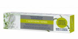 """""""7 northern herbs"""" Flouridmentes 7 gyógynövényes  fogkrém 100 g Natura Siberica"""