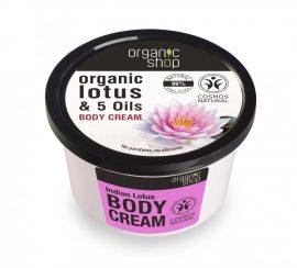 Indiai lótusz testápoló 250 ml Organic Shop