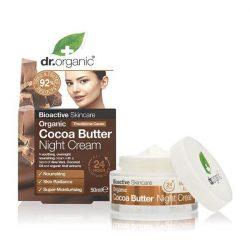 Éjszakai arcápoló krém bio kakaóvajjal 50 ml Dr.Organic
