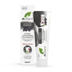 Extra fehérítő fogkrém aktív szénnel 100 ml Dr.Organic