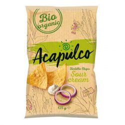 Bio Tortilla chips hagymás-tejfölös 125 g Acapulco