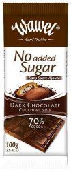 Étcsokoládé 70% hozzáadott cukor nélkül 100 g No Added
