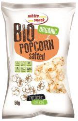 Bio popcorn sós 50 g White Snack