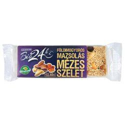 Bio Mézes szelet, földimogyorós-mazsolás 40 g Biopont