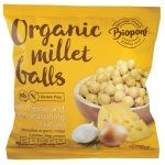 Bio Extrudált kölesgolyó, sajtos-hagymás ízesítésű 75 g Biopont