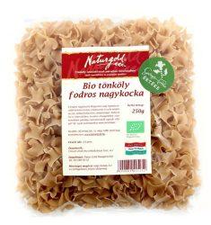 Bio tönköly tészta fodros nagykocka teljes őrlésű 250 g Naturgold