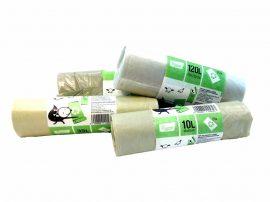 Újrahasznosított műanyagból készült szemeteszsák (10 liter) 25db