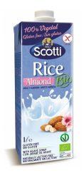 Bio laktóz- és gluténmentes rizsital mandulával 1 l Riso Scotti