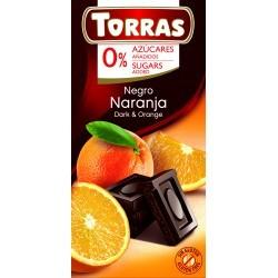 Narancsos étcsokoládé hozzáadott cukor nélkül 75 g Torras
