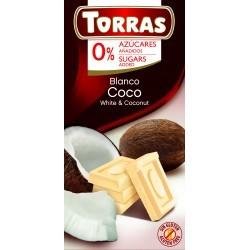 Kókuszos ferhércsokoládé hozzáadott cukor nélkül 75 g Torras