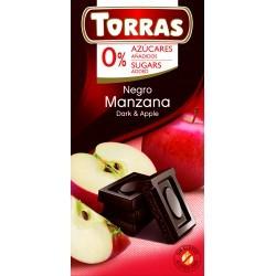 Almás étcsokoládé hozzáadott cukor nélkül 75 g Torras