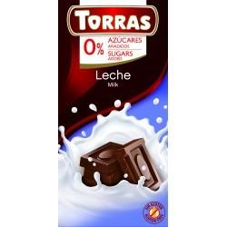 Tejcsokoládé hozzáadott cukor nélkül 75 g Torras