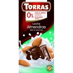 Mandulás tejcsokoládé hozzáadott cukor nélkül 75 g Torras