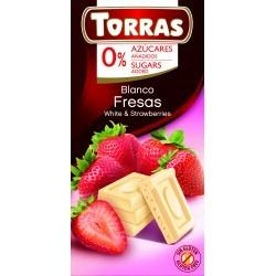 Epres fehércsokoládé hozzáadott cukor nélkül 75 g Torras