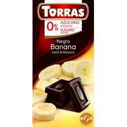Banános étcsokoládé hozzáadott cukor nélkül 75 g Torras