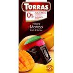 Mangós étcsokoládé hozzáadott cukor nélkül 75 g Torras