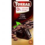 Kávés étcsokoládé hozzáadott cukor nélkül 75 g Torras