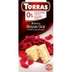 Goji bogyós fehércsokoládé hozzáadott cukor nélkül 75 g Torras