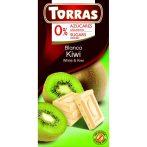 Kiwis fehércsokoládé hozzáadott cukor nélkül, édesítőszerrel 75 g Torras
